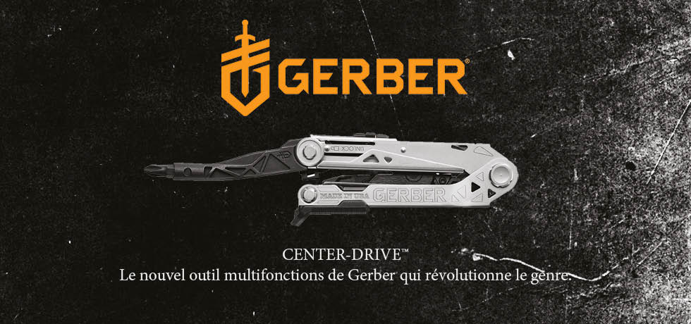 Gerber Center-Drive - Loisiralp - Couteaux - Pinces - Multi-tool - Outil multifonctions